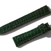 Chopard Croco Band Strap Green 17 Mm 65/105 New C17-2 -70%