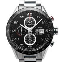 タグ・ホイヤー (TAG Heuer) Calibre 1887 Automatic Chronograph Black...