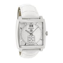 TAG Heuer Monaco Ladies Diamond MOP Swiss Quartz Watch...