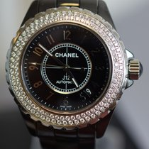 Chanel J12 ORIGINAL DIAMOND BEZEL BLACK CERAMIC MINT CONDITION
