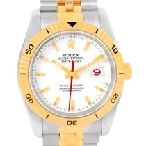 Rolex Datejust Turnograph Steel Yellow Gold White Dial Watch...