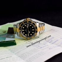 Rolex 116713 GMT Master II YG/SS with Original Paper & Tag
