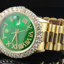 Rolex 18K Yellow Gold Rolex Green Dial President Day-Date 36MM...