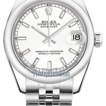 Rolex Datejust 31mm Stainless Steel 178240 White Index Jubilee