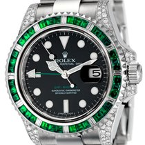 Rolex GMT-Master II Steel Custom Green Bezel 116710LN