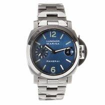 Panerai Luminor Marina 40MM Blue Dial Watch PAM00120 (Pre-Owned)