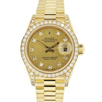 Rolex Datejust 69158 Presidential Diamond Ladies Watch