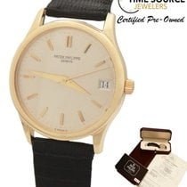 Patek Philippe Calatrava Automatic 18K Gold 34mm 3998J Box...