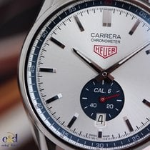 TAG Heuer Carrera 39mm Calibre 6 COSC Steel on Leather Silver...