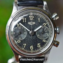 Heuer Chronograph Double Register, Tropical Dial, Ref. 49122...