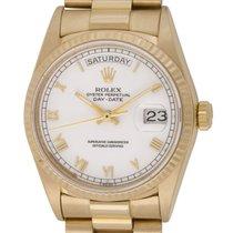Rolex : Day-Date President :  18038 :  18k Gold : white Roman...