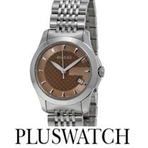 Gucci G-Timeless Brown Gucci Dial 27mm YA126503 T