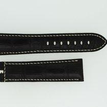 Breguet Lederband / Alligator / Dunkelbraun - 23/20 Länge 130/85