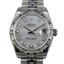 Rolex Lady Datejust White Gold And Steel White Automatic...