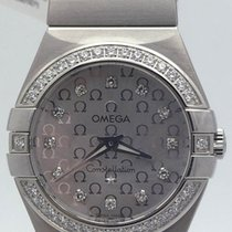 オメガ (Omega) Stainless Steel Diamond Bezel & Markers...