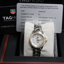 TAG Heuer Ladies Link Wjf1354 Mop Diamond 18k Yellow Gold...