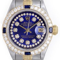 Rolex Ladies Rolex Datejust 2-Tone Diamond Watch For Women 69173