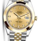 Rolex OYSTER PERPETUAL DATEJUST CHAMPAGNE DIAMOND 41MM 126303 NEW