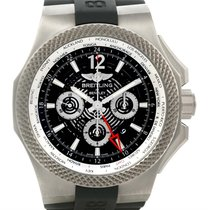 Breitling Bentley Chronograph Gmt Black Dial Titanium Watch...