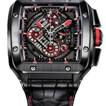 Cvstos Evosquare-50 HF Concept Men's Watch, Black steel,...