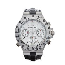 Bulgari Diagono Rattrapante Chronograph 18k White Gold Gents...