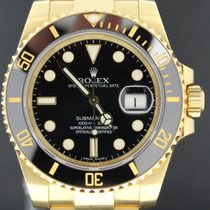 Rolex Submariner Yellow Gold Black Dial, 40MM Full Set 2012 MINT