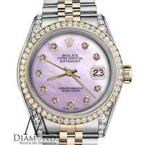 Rolex Woman Pink Pearl Rolex 36mm Datejust 18k Gold Stainless...