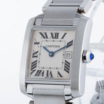 Cartier Tank Francaise Stahl an Stahlband Ref. 2465