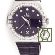 Omega Constellation Quartz 35mm Diamonds Purple NEW