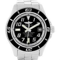 Breitling Superocean 42 Abyss Black Dial Mens Watch A17364 Box...
