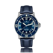 Blancpain Fifty Fathoms Automatic Titanium Blue Dial Unisex...