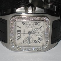 Cartier Santos 100 XL Chronograph Diamonds