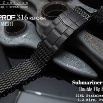 Strapcode 18mm Milanese Mesh Band, PVD Black (05)