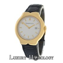 Tiffany Authentic Ladies Tesoro M0130 18K Yellow Gold Date Quartz