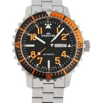 Fortis .. Aquatis B-42 Marinemaster Day/Date Orange NEW FULL SET