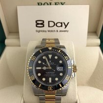 Rolex Eightday 116613LN Black Gold Steel Ceramic Submariner Date