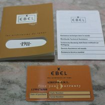 Ebel vintage kit papers booklet warranty card blanc  chrono 1911