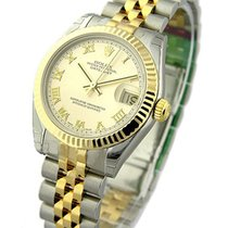 Rolex Unworn 178273 Datejust 2-Tone Midsize in Steel with...