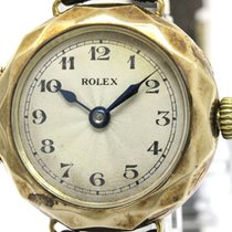 Rolex Vintage Rolex W&d K9 Rose Gold Leather Handwinding...