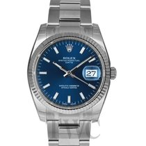 Rolex Oyster Perpetual Date Blue/White Gold 34mm - 115234