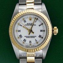 Ρολεξ (Rolex) Oyster Perpetual Lady 18k Gold Steel White Dial