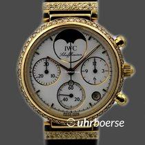 """IWC Schaffhausen """"DaVinci"""" Chronograph Gold 18kt Diamantbesatz"""
