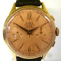 Chronographe Suisse Cie vintage APEX chrono gold 18ct