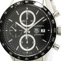 TAG Heuer Polished Tag Heuer Carrera Chronograph Steel...