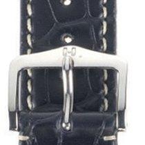 Hirsch Viscount Lederband schwarz L 22mm 10270759-2-22