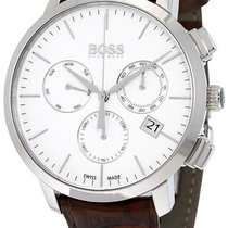 Hugo Boss Chronograph Steel Mens Watch White Dial Date...