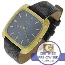 Gübelin Vintage Men's  Special-Time 18K Yellow Gold Blue Swiss...