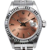 Rolex Women's Datejust Stainless Steel  Custom Pink Index...