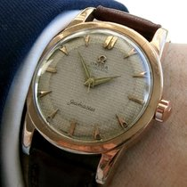 Omega Pink gold plated Seamaster Automatic Honeycomb dial