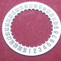 Cartier 687 Datumsscheibe, schwarze Schrift auf weißem Grund...